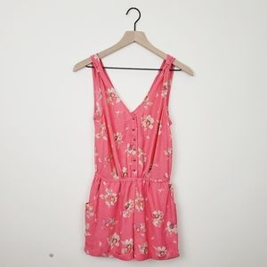 Kimchi Blue Floral Romper Size Small Pink